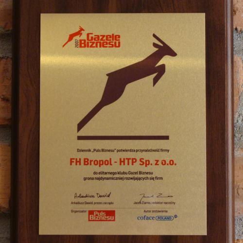 Wyróżnienie Gazelą Biznesu 2007